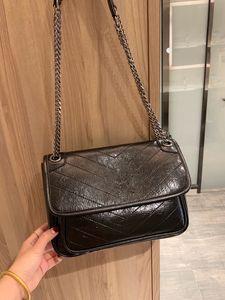 Designer NIKI mulheres Cadeia Envelope Sling bolsas de luxo saco bolsa da senhora Mensageiro Moda de bolsas de couro genuíno Crossbody transporte rápido