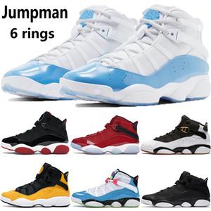 Jumpman 6 anillos para hombre zapatillas de baloncesto UNC criados momentos decisivos del equipo de hielo negro de taxi real Gris frío Concord mujeres de los hombres zapatillas de deporte de los formadores