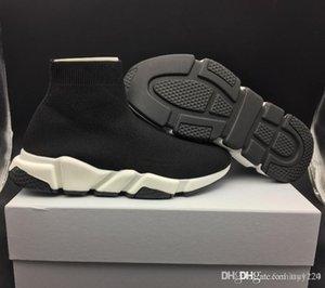 Мода Дизайнер Женская обувь Мужские носки Speed Trainer кроссовки Вязание нескользкую на высокое качество вскользь спортивной обуви Comfort Chaussures