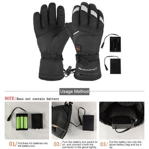 1 Pair Winter USB Hand Warmer Electric Thermal Gloves Waterproof Heated Gloves Battery Powered For Motorcycle Ski Gloves New