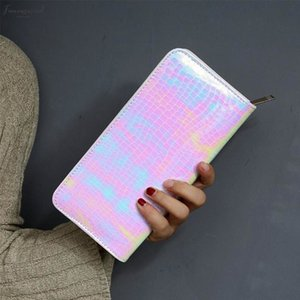 New Hologram Women Wallet Clutch Long Ladies Bag Girl With Zipper Coin Purse Card Id Holders Women Wallets Handy