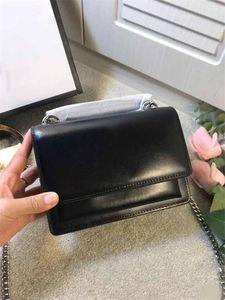 Sunset crossbody çanta gümüş zincir omuz çantaları Y Sint L klasik serisi hakiki gerçek deri cüzdanlar toz torbası hediye kutusu