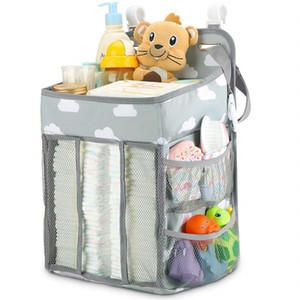 Sacs à langer Lit bébé Hanging Diaper Caddy Nursery Organisateur Designer Sacs humide / sec Stockage Grand Voyage infirmière Sac étanche