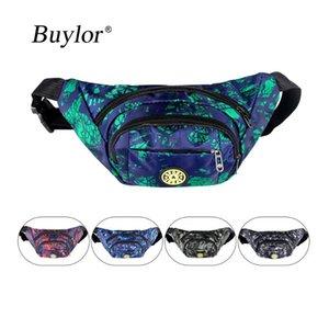 Buylor Bloco de Fanny Homens Belt Bag Banana cintura Packs Waterproof Peito Bum Bag Mulheres Zipper Wallet bolsa de viagem de bicicleta Caminhadas