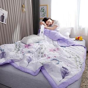 2019 Stripe Natural algodão lavado acolchoado Ar Condicionado verão Quilt fresco cama cobertor fino Quilt Colcha