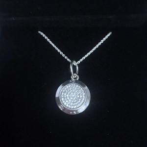 moda Genuine colar de pingente rodada caixa original Pandora para definir de prata esterlina 925 senhoras CZ diamante pingente charme único produto