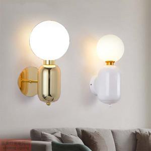 Lâmpada de parede criativo moderno Ouro Wall Light Led para banho Quarto Dedside Sala Home Deco aparelho de iluminação