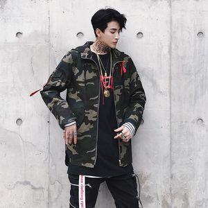 2019 New Irregular X Letter Coat Long Sleeve Jackets Red Yellow Men Windbreakers Jackets Hoodie Coats For Men Hip -Hop Men &#039 ;S Jackets