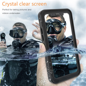 iPhone para o caso do mergulho Diving Telefone 11 Pro Waterproof Case X XS XR Max Caixa à prova de choque Dustproof completa IP68 Corpo