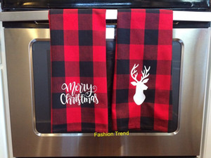50PCS는 / 많은 새로운 도착 모노그램 버팔로 체크 무늬 접시 수건 크리스마스 장식 차 주방 수건 수제 핸드 타올을 확인