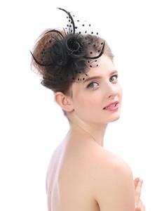 Best Selling Headdress Korean Handmade Stretch Net Bridal Top Hat Creative Flower Banquet Hats Princess Wedding Bride Hair Accessories