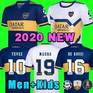 2020 2021 Boca Juniors Fussball Jerseys de Rossi Tevez Boca 20 21 Camiseta Carlitos Maradona Football Shirt Abil BOCA JRS Kits Kinderausstattung