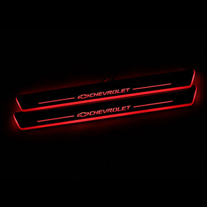 الانتقال LED ترحيب دواسة السيارة جرجر لوحة دواسة عتبة الباب المسار ضوء لشفروليه كروز 2015 - 2018
