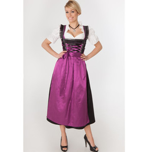 Cosplay sexy bière Pucelle festival bavarois traditionnel Dirnal Robe Allemagne Oktoberfest Carnaval Party Wench Costume