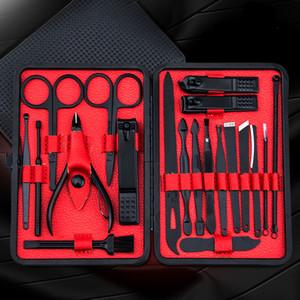 20pcs professionnelle manucure en acier inoxydable Coupe-ongles Ciseaux Costume Set Kits manucure ongles outils outils nail art