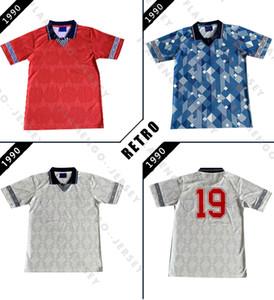 Angleterre maillot de foot rétro 1989 1990 vintage maillot de football 1991classic Robson Platt Beardsley Lineker OWEN ANGLETERRE GASCOIGNE maison loin THI
