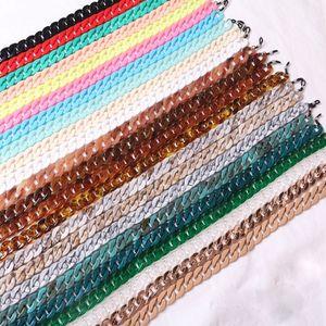 40 colori moda acrilico occhiali occhiali da vista appeso a catena del collo fresco occhiali da sole spessi a catena collegamento cool retro designer