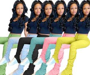 Kadınlar Flare Pantolon Bayan Yığın Koşucular Pileli Sweatpants Yüksek Bel Pantolon Bölünmüş Bell Alt Kalem Pantolon Kadınlar Giyim T196