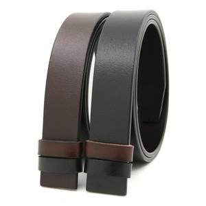 Single-layer antique cowhide body double-sided rotary buckle punching smooth buckle belt belt men's leather