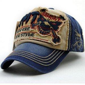 Gorra de béisbol de moda Gorras Snapback de la Nueva 2017 hombres del verano del bordado del lobo hueso sombreros de Sun para las mujeres Gorra