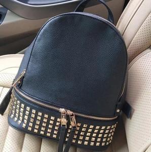 Brand Leather Backpack Classic rivet design travel backpack Fashion PU zipper Wallet Women Brand Clutch Shoulder Bag leather purse