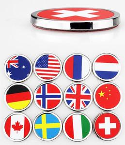 styling Auto 36 millimetri rotonda etichettatura decorazione della parte posteriore dell'automobile adesivi lega di zinco Germania Union Jack Giappone Svezia Canada USA Italia russo Swiss Flag