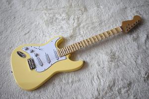 Fabrika Özel Fiyat Krem Solak Elektro Gitar Sol Handed, 22 Fret, Büyük Mesnetli, Krom Donanım, Özelleştirilebilir