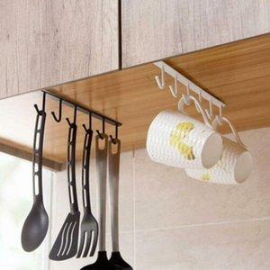 HOT Under-Cabinet Other, Dining & Bar Kitchen, Dining & Bar Hanger Rack with 6 Hooks Kitchen Cupboard Storage Shelf Hook NDS