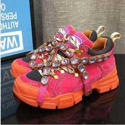 Nuovi FlashTrek progettista della scarpa da tennis con Cristalli rimovibili progettista del Mens di lusso scarpe moda casual di lusso Designer Womens Shoes Sneakers330