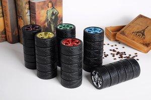 304 개 스테인레스 스틸 보온병 색상 상자와 부직포 DHL XD2270 창조적 인 자동차 타이어 물 컵 커피 콜라 뜨거운 우유 컵을 습격