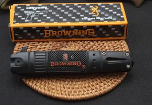 SICAK 2019 Browning bıçak Bıçaklar Yan Açık Bahar Destekli Bıçak 5CR13MOV 58HRC Stee + alüminyum Kol EDC Katlama Pocket Knife Survival Dişli