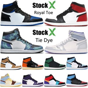Nouveau 1 haute OG 1s chaussures de basket-ball pour hommes intrépide UNC incroyable Hulk pin vert noir multi couleur top 3 hommes femmes designer formateurs