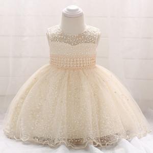 не Goldenshield новый ребенок без рукавов крестины платья кружева Детские платья для крестин Star вышитой принцессы юбка бисер полой конструкции