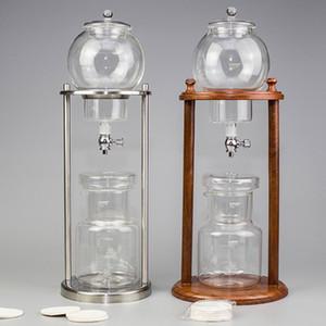 600ml Cold Brew goutte à goutte en verre réutilisable Cafetière filtre Outils Espresso Dripper Coffee Pot de glace d'eau goutte à goutte Machine à café