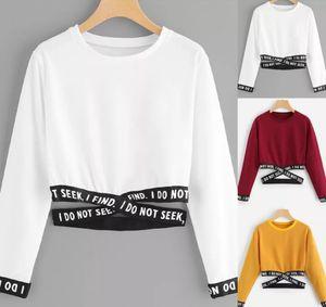 Mulheres Camisetas TXT coreano camisa Top Curto roupa das mulheres do verão T kpop Moda manga longa encabeça streetwear