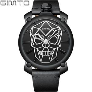 Relojes de los hombres Marca Gimto Lujo Creativo Deporte Militray Impermeable de Cuero Relogio masculino Relojes de pulsera de Cuarzo Masculino Y19051703