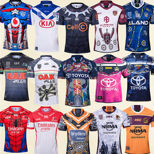 West Tiger Eels Titans Bulldogs Dragons Knights Wests Tigers Maillots de Rugby Maillots de Rugby top 20 19 Australie Rugby