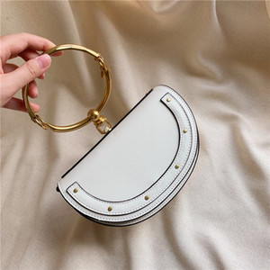 2020 Yüksek Kaliteli cüzdan çanta moda basit geniş omuz kemeri tek omuz çantası Retro H harfi geniş omuz kemeri çapraz ceset torbaları