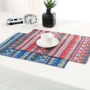 Küche waschbar Tischset Anti-Skid Tischdeko Platz Optional Farben Esstisch Mats Rechteck-45x30cm Dish Mats Matten
