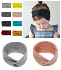 Candy Colors Baby Girl Cross knot Soft Headband fashion Flexibility Bohemia Bow Girl Infant Hair Accessories Head band