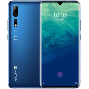 """ZTE origine Axon 10 Pro 5G LTE téléphone portable 12Go RAM 256Go ROM Snapdragon 855 Octa base Android 6.47"""" 48MP Face ID d'empreintes digitales Téléphone portable"""