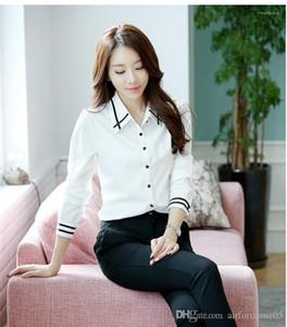 Neck lambrissé Shirt Designer Atmosphère manches longues Chemises Contracté étudiants fille préférée Femme Vêtements Femmes Mode Lapel