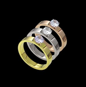 Screw four claw single diamond ring couple wedding diamond ring