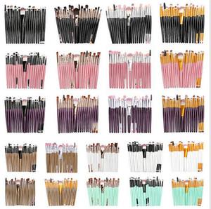 Heiße Gesundheit Schönheit 20 stücke Set Professionelle Make-up Pinsel Set Pulver Foundation Lidschatten Make Up Pinsel Kosmetika Weiche Kunsthaare