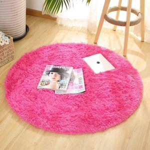 Fluffy Round Tappeto Tappeti per soggiorno Decor Faux Fur Carpet Kids Room Long Peluche Tappeti per camera da letto Shaggy Tappeto moderno Tappeto