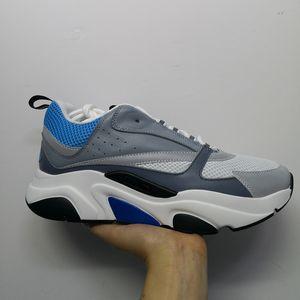 Homens Mulheres B22 Sneaker malha de couro reais 3M reflexiva Sapatilhas Moda Vintage Plataforma Formadores 21 Cores com Box US4-12
