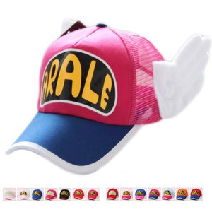 الأصلي أنيمي تأثيري تنفس صافي كاب القبعات dr. slump ارالي الملاك الصيف الملونة شبكة كاب الطفل الكبار الحجم تعديل الهدايا
