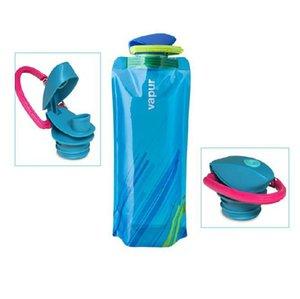 Garrafas dobrável água saco Chaleira PVC dobrável água Outdoor Sports Travel Cups Escalada garrafa de água com Pothook 3colors GGA2635-2
