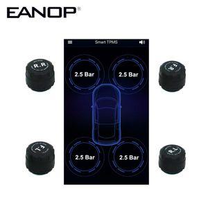 EANOP Wireless TPMS 4 внутренних / внешних датчиков контроля давления в шинах сигнализация APP дисплей для универсальных автомобилей