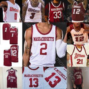 Jersey di pallacanestro personalizzato Umass MinutiMen NCAA College Sean East Tre Mitchell T.Mitchell T.J. Settimane Carl Pierre Samba Diallo Keon CLERGEOT